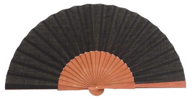 Gentleman pear wood fan 3189NEG