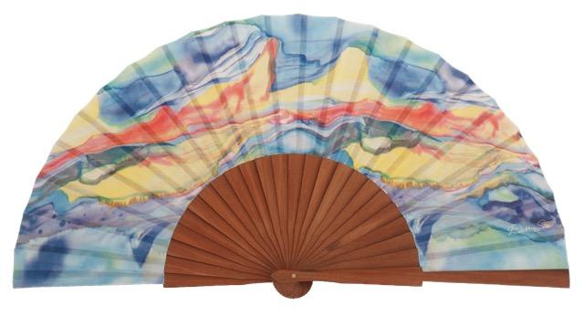 Fantasy pear wooden fan 3257MUL