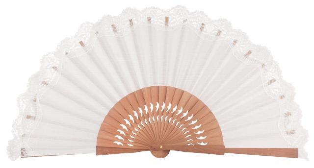 Pear wooden fan 3269BLA