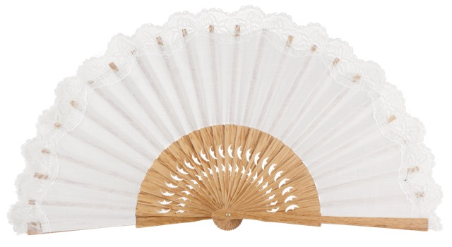 Oak wooden fan 3270BLA