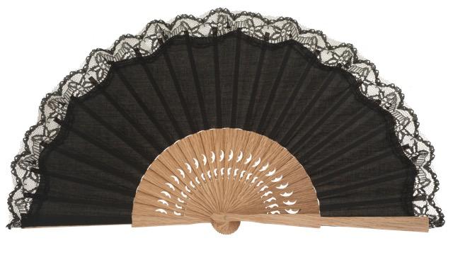 Oak wooden fan 3270NEG