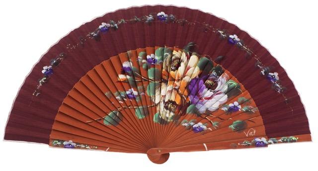 Fantasy pear wooden fan 3388GRA