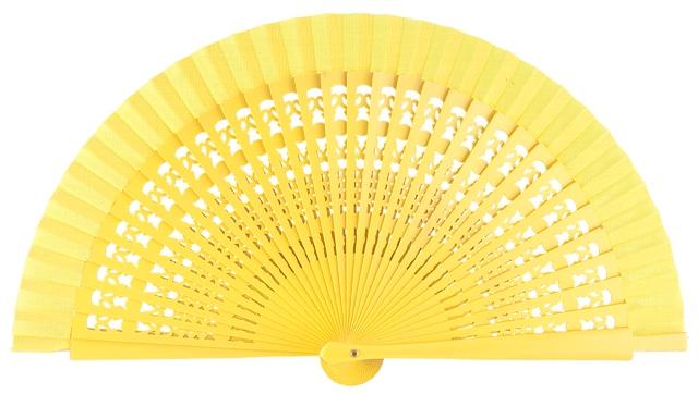 Wooden fan in colors 4013AMA