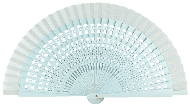 Wooden fan in colors 4013CEL