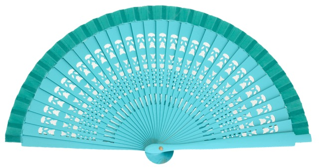Wooden fan in colors 4013ESM