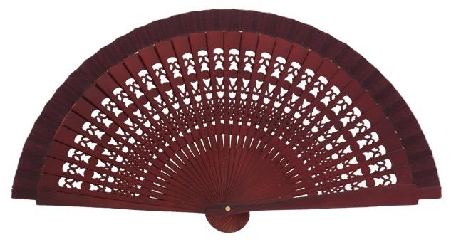 Wooden fan in colors 4013GRA