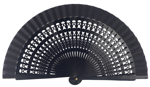 Wooden fan in colors 4013MAR