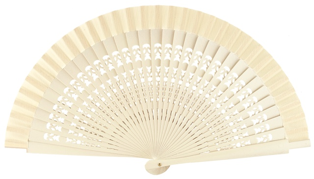 Wooden fan in colors 4013MFL