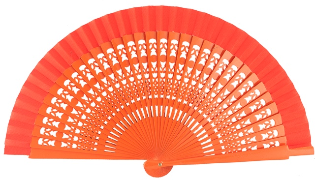 Wooden fan in colors 4013NAR