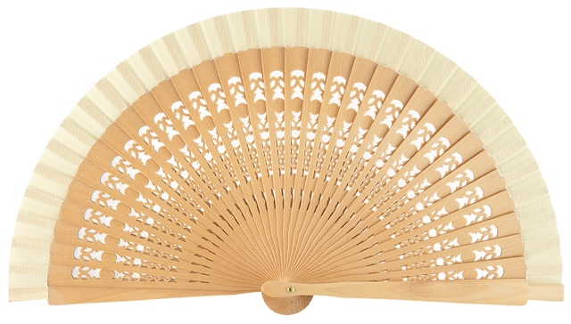 Wooden fan in colors 4013NAT