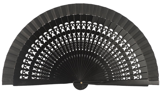 Wooden fan in colors 4013NEG
