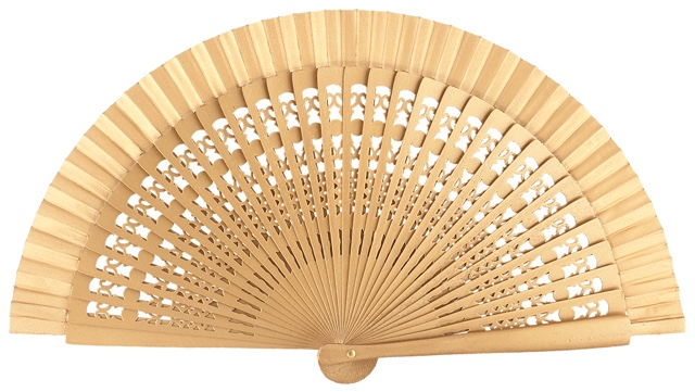 Wooden fan in colors 4013ORO