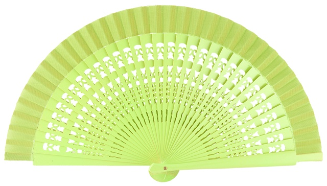 Wooden fan in colors 4013PIS