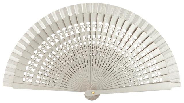 Wooden fan in colors 4013PLA