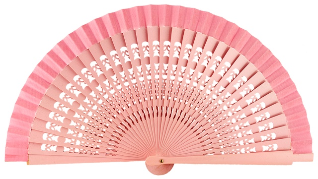 Wooden fan in colors 4013ROS