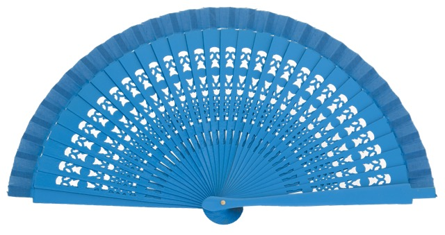 Wooden fan in colors 4013TUR