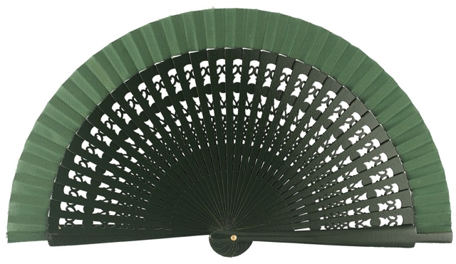 Wooden fan in colors 4013VBO