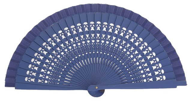 Wooden fan in colors 4013VIO