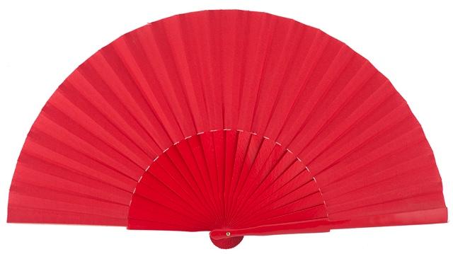 Wooden fan in colors 4048ROJ