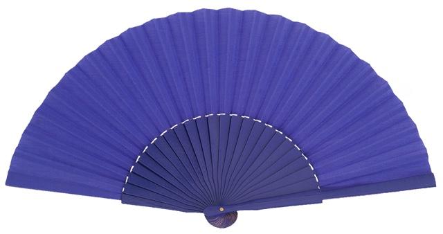 Wooden fan in colors 4048VIO