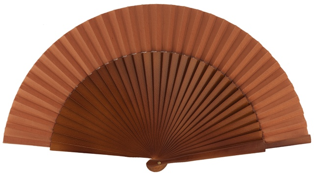 Wooden fan in colors 4055NOG