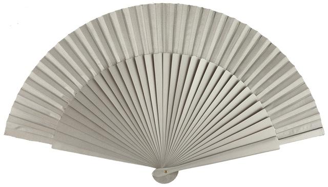 Wooden fan in colors 4055PLA