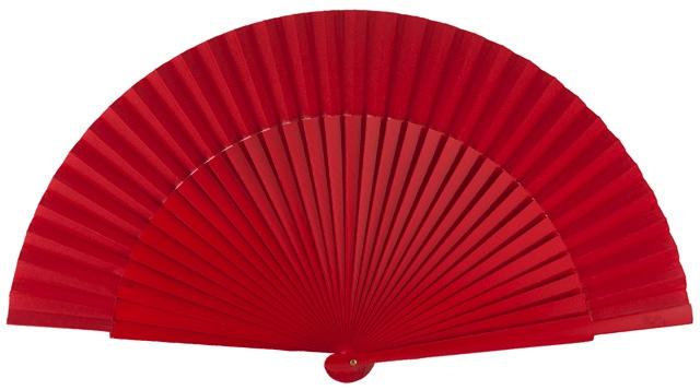 Wooden fan in colors 4055ROJ