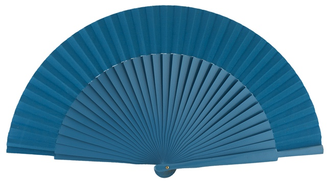 Wooden fan in colors 4055TUR