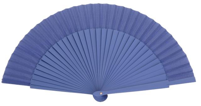 Wooden fan in colors 4055VIO