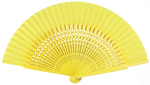 Wooden fan in colors 4056AMA