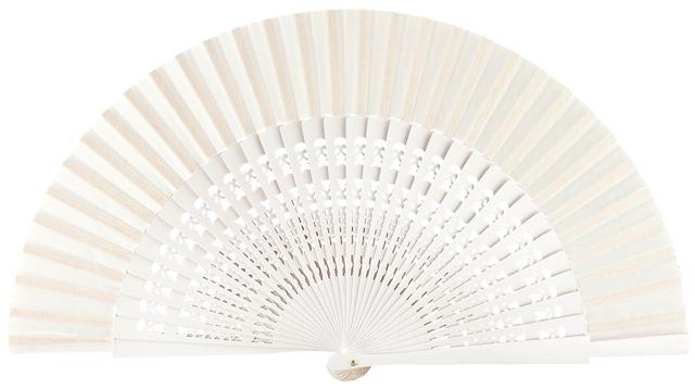 Wooden fan in colors 4056BLA