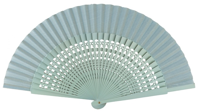 Wooden fan in colors 4056CEL