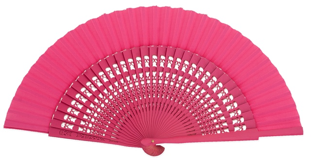Wooden fan in colors 4056FUC