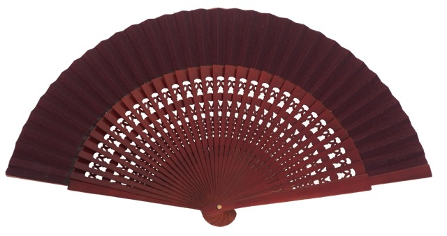Wooden fan in colors 4056GRA