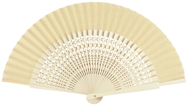 Wooden fan in colors 4056MFL