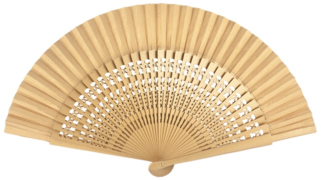 Wooden fan in colors 4056ORO