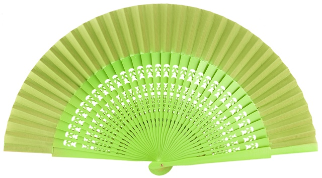 Wooden fan in colors 4056PIS