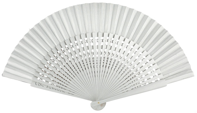 Wooden fan in colors 4056PLA
