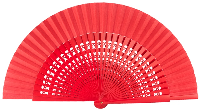 Wooden fan in colors 4056ROJ