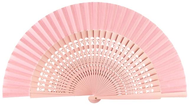Wooden fan in colors 4056ROS