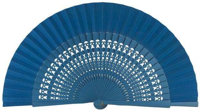 Wooden fan in colors 4056TUR