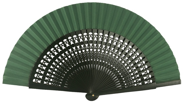 Wooden fan in colors 4056VBO