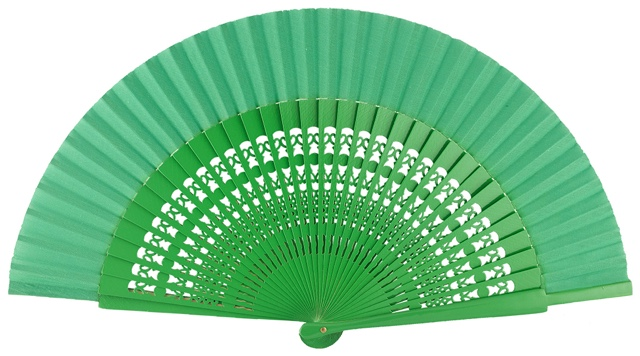 Wooden fan in colors 4056VER