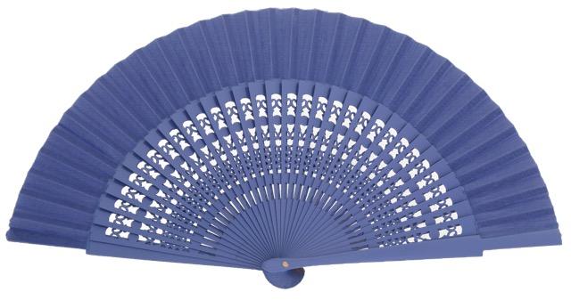 Wooden fan in colors 4056VIO