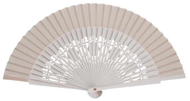 Wooden fan in colors 4058BLA