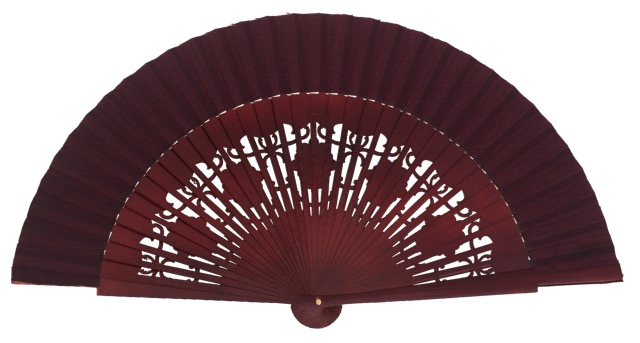Wooden fan in colors 4058GRA