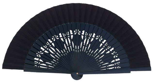 Wooden fan in colors 4058MAR