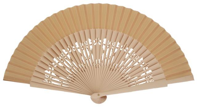 Wooden fan in colors 4058MFL