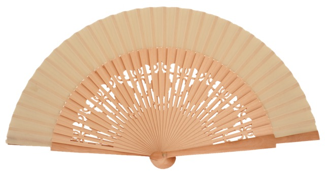 Wooden fan in colors 4058NAT
