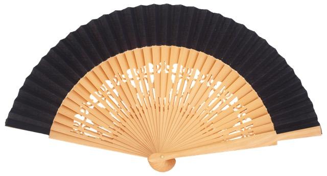 Wooden fan in colors 4058NTM